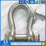 Edelstahl SS304 oder Ss316 wir Secutity D Fessel-Bogen-Fessel