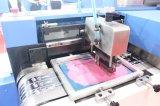 Etiquetas de algodón de la máquina de impresión automática de pantalla con correa de acero