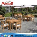Restaurante de madera de teca duradera mesa y mesa de jardín de madera