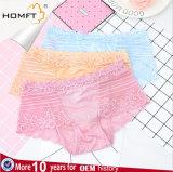 Los encajes de alta calidad de malla en la entrepierna de algodón One-Piece señoras chicas sexy ropa interior transparente