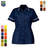 Manga corta de la moda a la enfermera del hospital uniformes los uniformes del personal