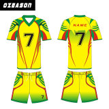 Progetta la breve camicia per il cliente dell'uniforme di calcio del manicotto