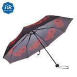 Малые MOQ цифровой печати Custom МАК 3 зонтик складывания крыльев