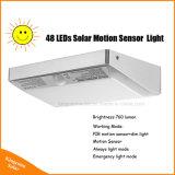 Nuovi indicatori luminosi alimentati solari della parete del giardino 48LED con il sensore di movimento
