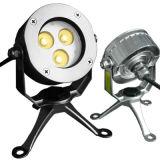 3X3w LED Unterwasserscheinwerfer mit Edelstahl-Stativ