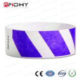 Wristband del Hf RFID Tyvek para el control de acceso