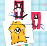 Single Air Chamber Inflatable Life Jacket 자동 적이고 Manual