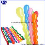 熱い販売マルチカラー螺線形の気球、ツイスト乳液の気球
