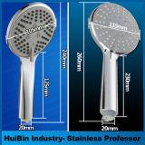 Alto spruzzo potente 5 che imposta la testa di acquazzone tenuta in mano con il tubo flessibile dell'acciaio inossidabile ed il braccio di acquazzone extra-lunghi