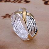 De dwars Juwelen van de Ring van het Huwelijk Bruids X van de Vorm