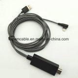 iPhone 8/XのためのUSBの充満ケーブルが付いているHDTVのアダプターケーブルへの2m電光