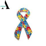 De Speld van de Revers van de Kraag van het Raadsel van het Lint van de Voorlichting van het autisme