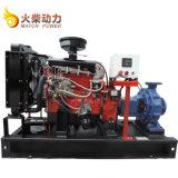 De grote Diesel die van de Irrigatie van de Stroom 26kw LandbouwPomp van het Water met Motor Weifang wordt geplaatst