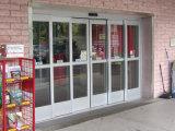 Дверь с защитной сеткой самомоднейшего балкона Низкая-E стеклянная алюминиевая сползая