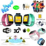 3G de vente chaud neuf badine la montre de traqueur de GPS avec le bouton Y20 de SOS