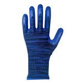 Poliester de las muestras libres 13G con los guantes revestidos de la espuma