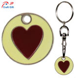 El patrón de corazón rojo personalizados Llavero de aleación de zinc para la venta