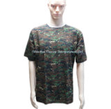 Army Crew-Neck camuflar uma T-shirt para homens