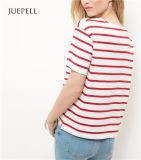 Camisa vermelha das mulheres T de Red Stripe Boxy