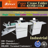 De industriële A3 A4 Machine van de Omslag van het Document van de Perforator van Creaser van de Grootte Snijmachine Gesneden Automatische