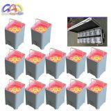 무선 DMX Uplights DJ는 전지 효력으로 결혼식 6pcsx18W RGBWA+UV 알루미늄 LED 편평한 동위를 할 수 있다 상연한다