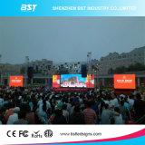 Fundición a presión P8 impermeable de gran pantalla de pared de vídeo LED de alto contraste, Ángulo de visión amplio