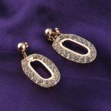 Orecchino di cristallo di vendita caldo del cerchio di Rhionstone dei monili dell'oro 18K