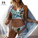 섹시한 수영복 여자 수영복은 브라질 비키니 세트를 위로 민다