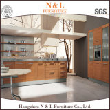 Madera de ingeniería de chapa de madera del gabinete de cocina con Blum hardware