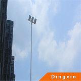サッカーは15m LEDの3PCS 180W LEDのフラッドランプとの高いマストの照明をひいた