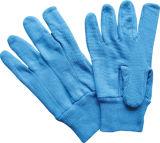 Розовый мини-пунктирной вязки запястья хлопка рабочие перчатки (2202. BL)
