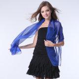 Senhora Fashion Chiffon Poliéster 30d lenço de seda em formato de cores (YKY1002)