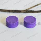 Маленький круглый алюминия с крышкой скольжения (фиолетовый цвет)