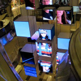 P4.81 Die-Casting interiores publicidad pantalla LED de Mall &Retail