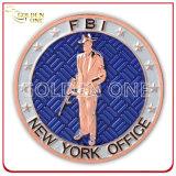 Laminado antiguo de encargo nosotros moneda del recuerdo de la oficina del Fbi