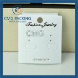 Cartão de exibição de brinco de PVC branco personalizado (CMG-071)