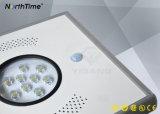 La energía solar Powered LED de iluminación de jardín de la luz de la calle con batería de litio