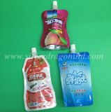 Plastiksaft, der Fastfood- Tülle-Beutel-Beutel verpackt