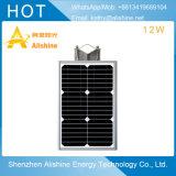 der Qualitäts-12W Solar-LED Straßenlaterneder ökonomischen Dorf-im Freienstraßen-Lampen-