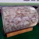 Hölzernes Muster strich galvanisierten Stahlring vor