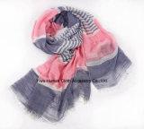 Мягкий шарф легковеса печати нашивки волны обруча шали лета
