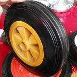 8インチの平らで自由な粉砕の完全なゴム製固体車輪