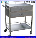 ISO/Ce Krankenhaus-Geräten-Edelstahl-Behandlung-medizinische Anlieferungs-Laufkatze/Karre