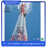Torres de antena Telecom de rádio de aço da micrôonda do ângulo ereto livre
