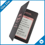 Los rayos UV de forma especial de diseño de etiquetas de papel para las prendas de vestir