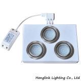 Ronda de 1.6W LED de la lámpara empotrada dentro de un mueble gabinete LED abajo se enciende