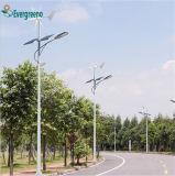 Getrenntes Solar-LED-Straßenlaternemit doppeltem Arm-Pole-Pfosten