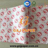 Papel de embalagem à prova de graxa impresso da boa qualidade para a galinha/Hamburger/sanduíche/cão quente
