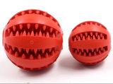 Perro de alta calidad interactiva de juguete Bola de la limpieza dental mascar