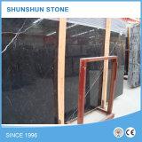 Lastre di marmo nere della Cina Marquina per la parete e Floooring